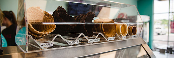 Photo of waffle cones